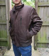 Calvin Klein Men's Brown Padded Puffer Bomber Jacket Large VGC Water Resistant