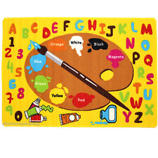 3x5 Area Rug Artist Art Paint Board ABC Palette Colors Educational Kids Yellow