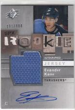 2009-10 SPx #178 Evander KANE  RC JSY AU  San Jose Sharks  #/484