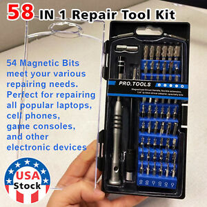58X Computer Repair Kit Set Tool Laptop PC Precision Screwdriver Torx Smartphone