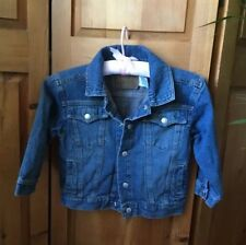 Levis Girls Blue Denim Jean Jacket Size 4 100% Cotton Snap Buttons