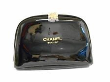 CHANEL Small Black snowflake Cosmetic Beauty Pouch Makeup Bag Trousse New