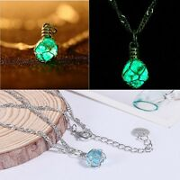 Chic Charm Magic Creative Pendant Steampunk Necklace Jewelry Luminous Ball