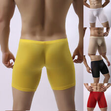 Men's Ice Silk Boxer Shorts Trunks Gift Underwear Casual Sports Boxers Pants