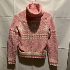 Energie Womens Sweater Size Large Pink Snowflake
