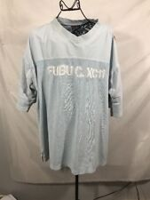 FUBU Athletic XC11 Mens Size 2X baby blue Vintage 90's Hip Hop pull over