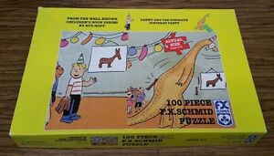 DANNY AND THE DINOSAUR BIRTHDAY PARTY 100 Piece Puzzle SYD HOFF F.X. Schmid 1986