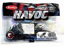 "Berkley HAVOC 4"" Green Pumpkin Red Craw Fatty"