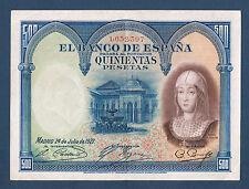 Billete de BANCO D'ESPAGNE 500 PESETAS Pick nº 73.c de 24-7-1927 en SPL1,652,397