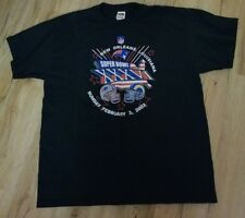 New England Patriots/Rams Super Bowl XXXVl 2/3/02 T-Shirt men's size-XL New 1st.