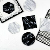 Luxury Marble Placemat PVC Mug Coaster Cup Mats Table Decoration Kitchen Tools