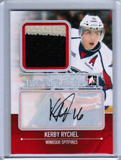 13/14 HEROES & PROSPECTS KERBY RYCHEL JERSEY AUTOGRAPH AUTO 19 WINDSOR SPITFIRES
