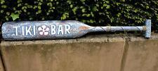 Holz Paddel Tiki Bar Südsee Maori 120cm Schild Rockabilly handgemalt