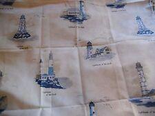 "coupon tissu  "" phares ""  92 X 115 cm"