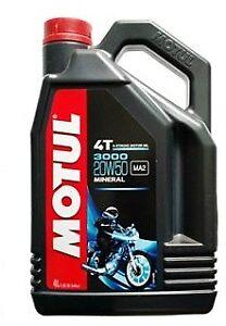 Huile MOTUL 3000 20W50 moto scooter quad Road 4 litres 4 temps mineral