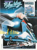 Publicité ancienne cigarettes Gauloise locomotive issue de magazine