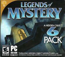 Hidden Object LEGENDS OF MYSTERY 6 PACK PC DVD ROM Game NEW SHOPWORN CASE