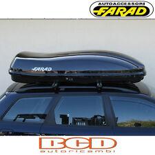 FARAD - BOX BAULE PORTAPACCHI F3 N7 680LT NERO LUCIDO - PORTABAGAGLI AUTO