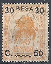 1922 SOMALIA USATO LEONE SOPRASTAMPATO 30 B SU 50 C SU 5 A - RR12623