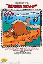 POSTER :COMICAL : BEAVER STAMP - JOE CARTOON  - FREE SHIP !   #4002    LP56 T
