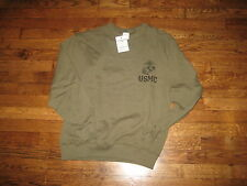 usmc,sweat shirt, pt,new old stock,50%/50%,issue, MEDIUM,#1,nsn CROSSED OUT