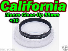 58 mm Macro Close Up Glass +10 Lens Filter Canon Nikon Camera DSLR SLR 58mm Sony
