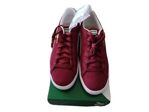 PUMA SUEDE Classic neuves/new Taille 43-9UK Rouge Bordeaux trainers in burgundy