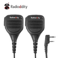 2Pcs Radioddity Shoulder Speaker Mic for GD-77 Baofeng UV-5R TP GT-3 TYT 8000E
