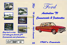 FORD FALCON CORTINA ESCORT TV ADDS on DVD 60's onwards