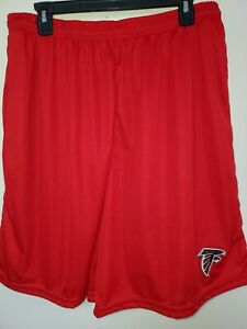 0724 Mens NFL ATLANTA FALCONS Polyester Jersey SHORTS Embroidered RED New