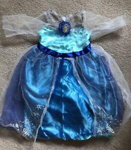 Used Jakks Pacific Disney Frozen Elsa Dress Fantasy Costume Sz 4-6x.