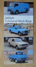 DATSUN COMMERCIALS orig 1981 UK Brochure - Nissan E23 Urvan Sunny Van Cabstar