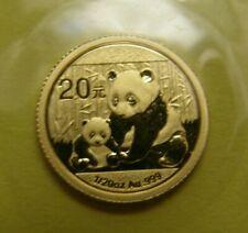 GOLDMÜNZE - CHINA PANDA BÄR 2012 - 1,57g 999 Gold - 1/20 - 20 YUAN - verschweißt