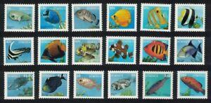 Dominica Fish 18v Definitives 1997 Smal Format 1997 MNH SG#2374-2391 CV£44.85