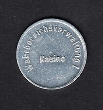 Kiel -Wehrbereichsverwaltung I-  Kasino - Pfandmarke aus Aluminium