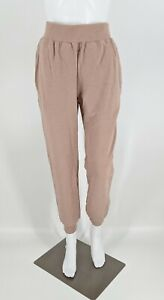 Lunya Dreamy Wool Fleece High Rise Jogger Womens Dusty Pink NIB