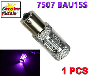 Strobe Flash Purple 7507 BAU15S PY21W 80W LED Bulb Rear Turn Signal Light Y1 JPU