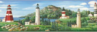 Lake Lighthouse Wallpaper Border Chesapeake Wallcovering Pattern BBC46081B