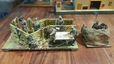 Elastolin  1933/1940 ensemble de 2 éléments de défense Allemande et officiers