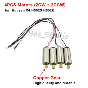 4pcs Motors (CW CCW) & Copper Gear for Hubsan X4 H502S H502E RC Quadcopter Drone