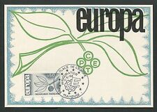 FRANCE MK 1965 EUROPA CEPT MULHOUSE MAXIMUMKARTE CARTE MAXIMUM CARD MC CM d5314