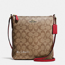 New Coach F35940 F58309 Signature N/S NS Crossbody/Shoulder Bag Messenger