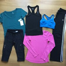 Women's Nike Gap Reebok Adidas H&M Gym Bundle T-shirt Vest Capris S