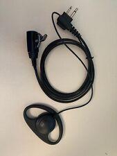 D Earphone Earpiece Headset Mic for Motorola Radio Security 2 Pin Walkie Talkie