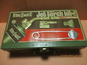 BERNZ-O-MATIC - JET TORCH FLAME KIT SET - PROPANE - vintage  WITH EXTRAS