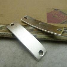 10pcs Fashion Blank Tag Antique Silver Connector Classic 10*38mm Pendants P468