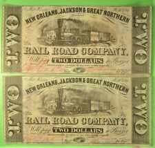 2 consecutive Confederate Rr $2 & $3 notes No J & Gn on recycled paper + $1.50