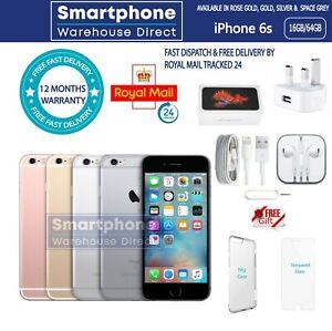 NEW APPLE iPHONE 6S 16/64GB FACTORY UNLOCKED & SEALED 12M WARRANTY TOP UK SELLER