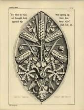 1878 fogliame intagliato PISCIS grano e zizzania Diavolo Scultura
