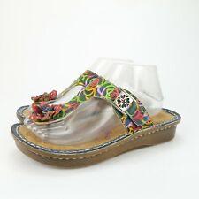 SPRING STEP L'Artiste Multicolored Leather Floral ALDORA Sandals Size 39 8 - 8.5